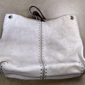 Michael Kors large leather shoulder tote